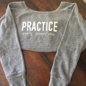 Go Yoga off the shoulder sweatshirt